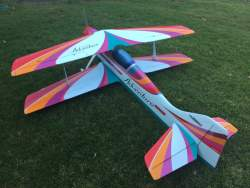 Oxai Adventure f3a Biplane,rare bind and fly