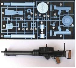 Williams Bros Scale Machine Gun by BB Model - 1/4 Scale Lewis Length  9-7/8
